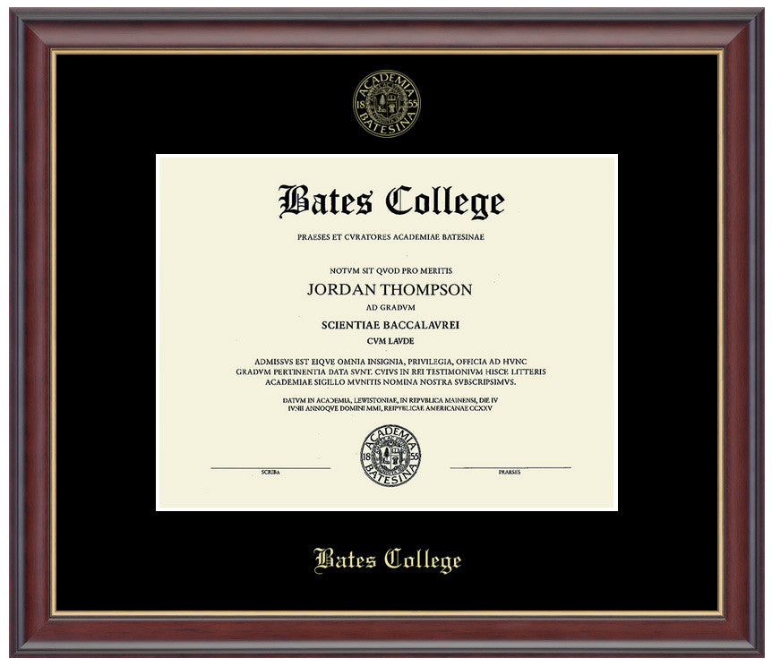 Embossed Studio Gold Diploma Frame | Bates College Store