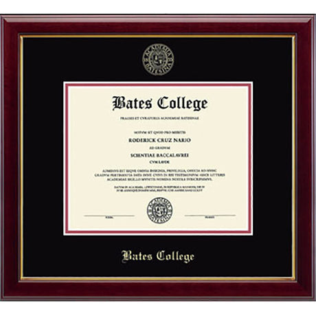 "Embossed ""Gallery"" Gold Edition Diploma Frame (Black/Crimson)"