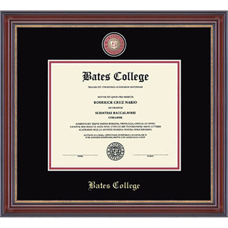 Masterpiece Edition Diploma Frame in Kensington (Black/Crimson) - In Stock!
