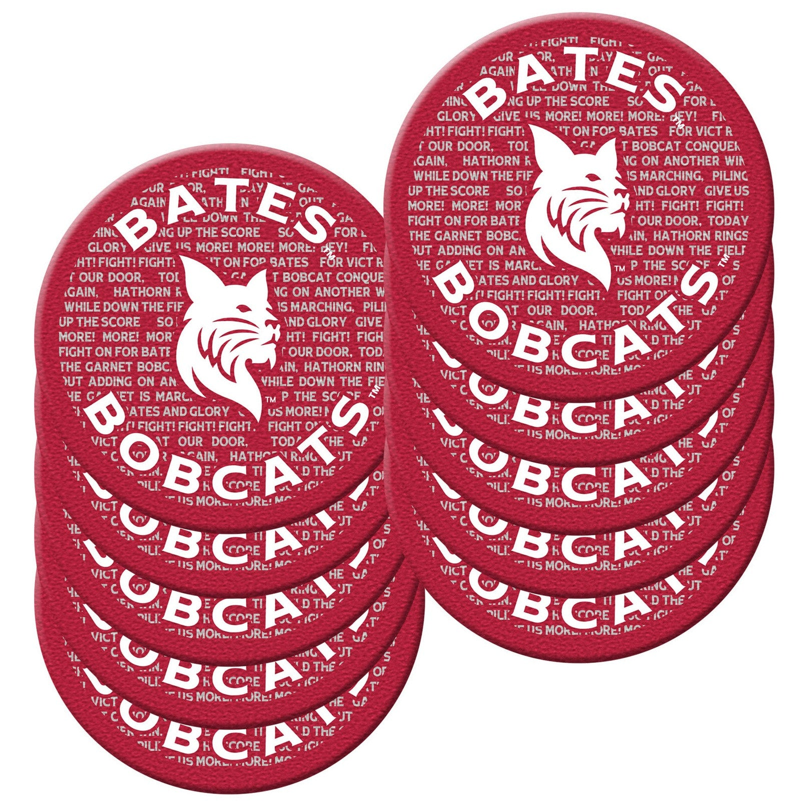 Collegiate Coasters (pack of 10) - Bobcat Spirit, Gifts, Housewares, Under $15