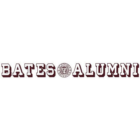 Bates Alumni and Seal Inside-window Decal