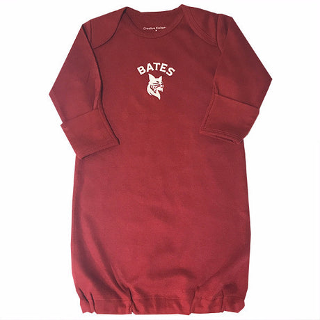 Garnet Lap Shoulder Gown For 0-3 Month Infants