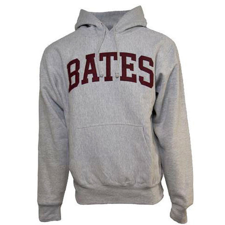 Heather Gray Bates Hooded Sweatshirt with Felted Letters