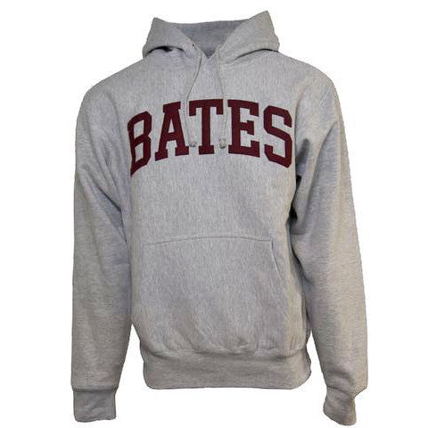 Heather Gray Bates Hooded Sweatshirt with Felted Letters - Hoodie, Sweatshirt, Sweatshirts