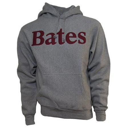 Graphite Bates Hooded Sweatshirt with Felted Letters