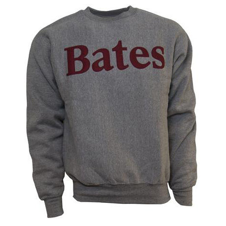 Graphite Crewneck Sweatshirt With Felted Letters