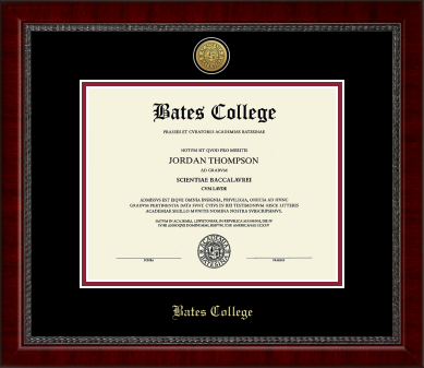 Gold Engraved Medallion Diploma Frame in Sutton with Black & Crimson Mats - IN STOCK!
