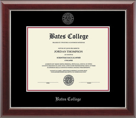 "Embossed ""Gallery"" Silver Edition Diploma Frame (Black/Crimson)"