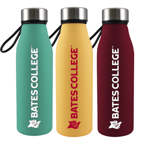 Soft Touch Glass Water Bottle (Three Color Options)