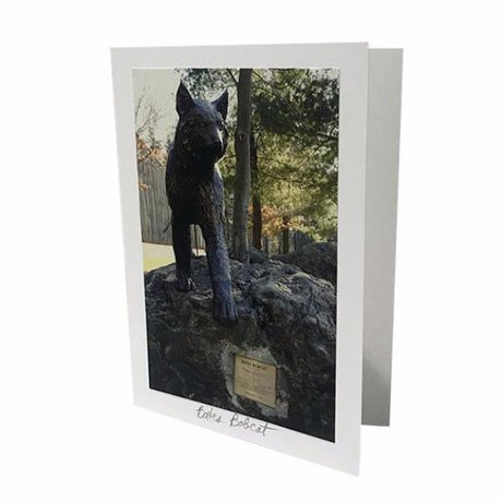 Bates Bobcat Statue Greeting Card