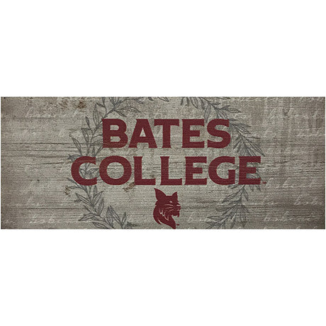 Bates College Small Wooden Sign