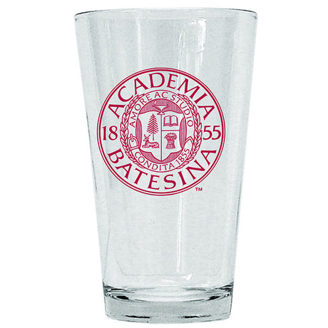 Pint Glass with Bates Seal