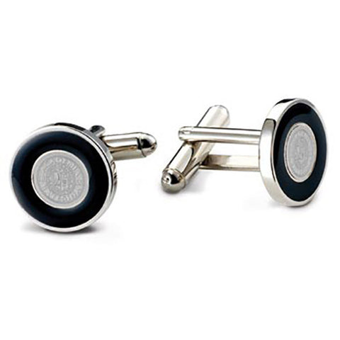 Bates Seal Cuff Links with Black Enamel - Commencement, Gifts, Jewelry