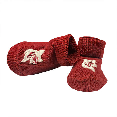 Bobcat Mascot Newborn Booties