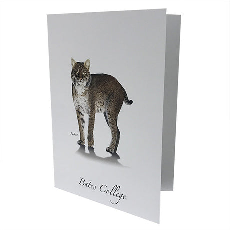 Single Bates College Bobcat Blank Card