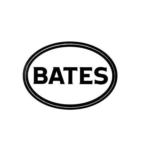 Black and White Bates Decal Sticker - Decals