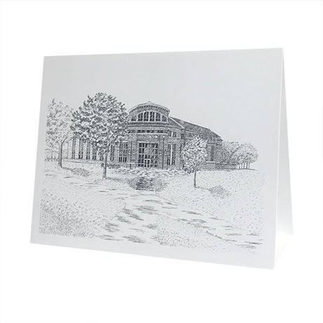 Single Pettengill Hall in Pen & Ink Card