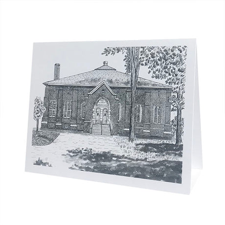 Single Alumni Gymnasium in Pen & Ink Card