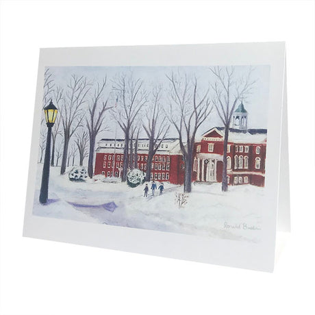 Single Hathorn and Parker Hall in Snow Card