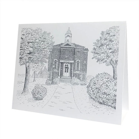 Single Hathorn Hall in Pen & Ink Card