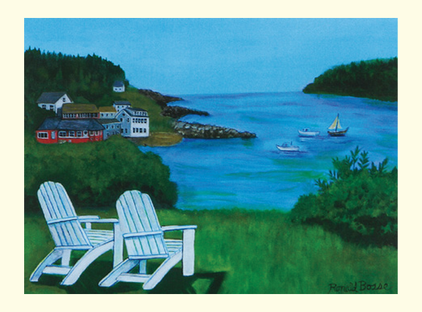 Single Monhegan Island Card
