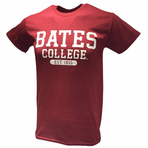 Classic Bates College T-Shirt in Garnet - New Item, T-Shirts