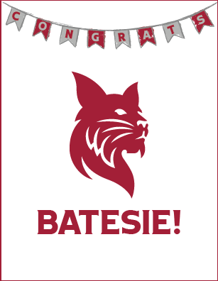 Congrats Batesie! Greeting Card