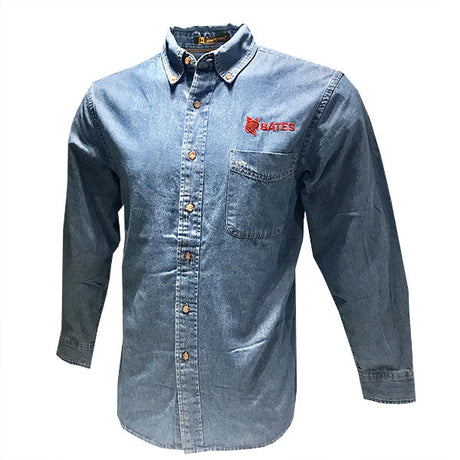 Men's Denim Button Down Shirt