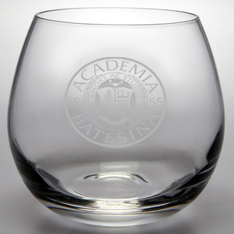 Etched Stemless Wine Glass - Glassware