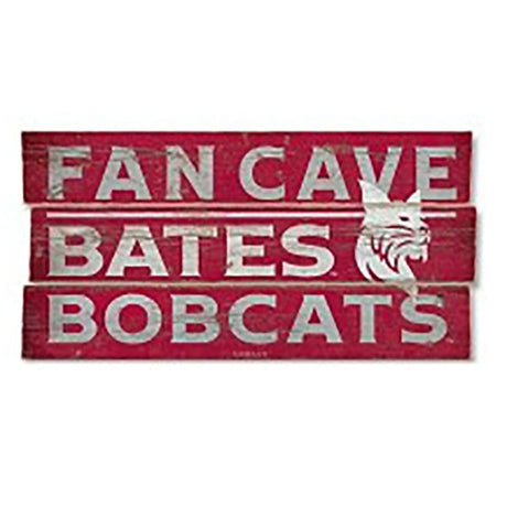 Rustic Bates Fan Cave Wood Plank Sign