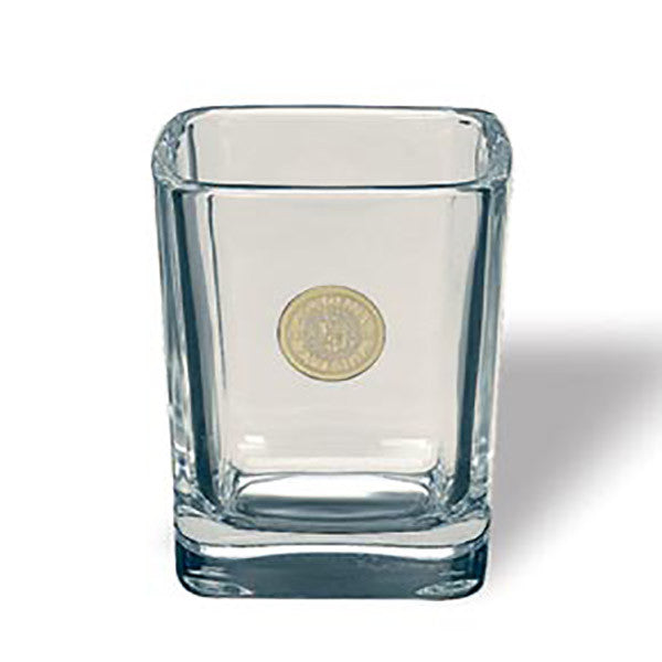 Shot Glass with Gold Bates Seal Medallion