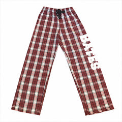 Garnet and White Flannel Pants