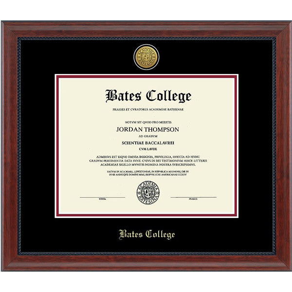 23 Karat Edition Diploma Frame in Signature (Black/Crimson) - Commencement, Frames
