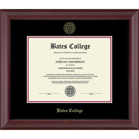 "Embossed ""Cambridge"" Edition Diploma Frame (Black/Crimson)"