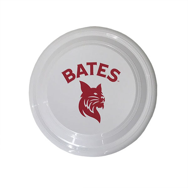 White Frisbee with Bates Bobcats