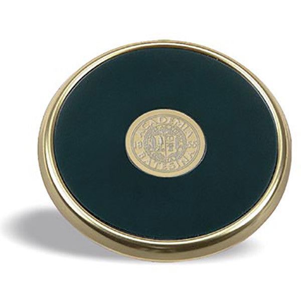 Gold Tone and Leather Coaster - Commencement