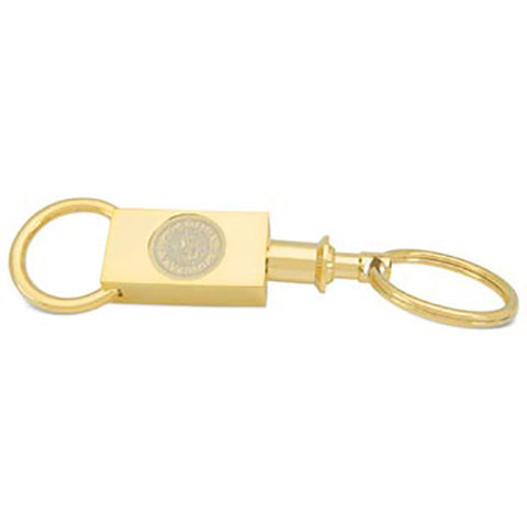 Gold Plated Two Sectional Key Ring - Commencement, Key Chain