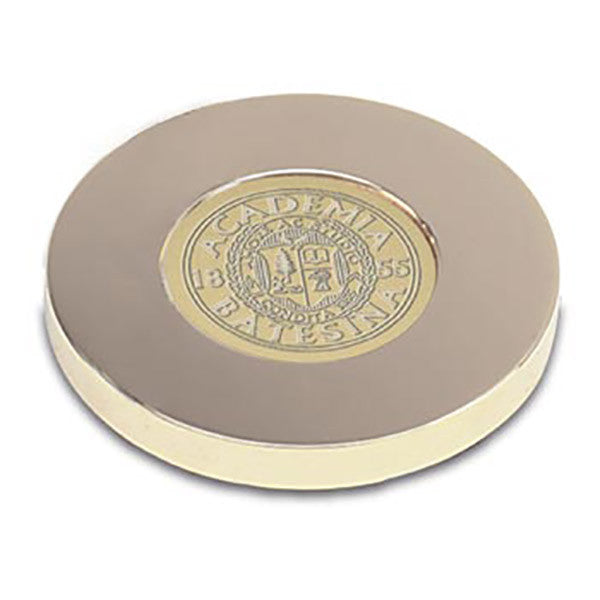 Bates Seal Gold Tone Paperweight