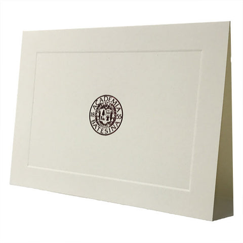 Bates Seal Ivory/Creme Blank Cards - Cards, Commencement, Gifts