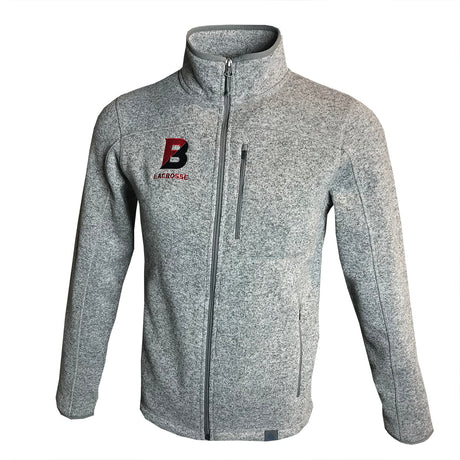 LL Bean Bates Lacrosse Sweater Fleece Full-Zip Jacket