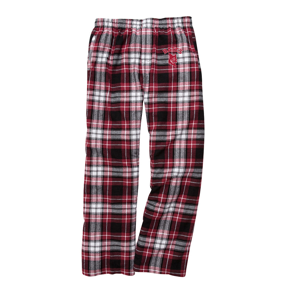 Black/Maroon Men's Flannel Pants
