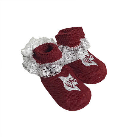 Newborn Lace Knit Booties