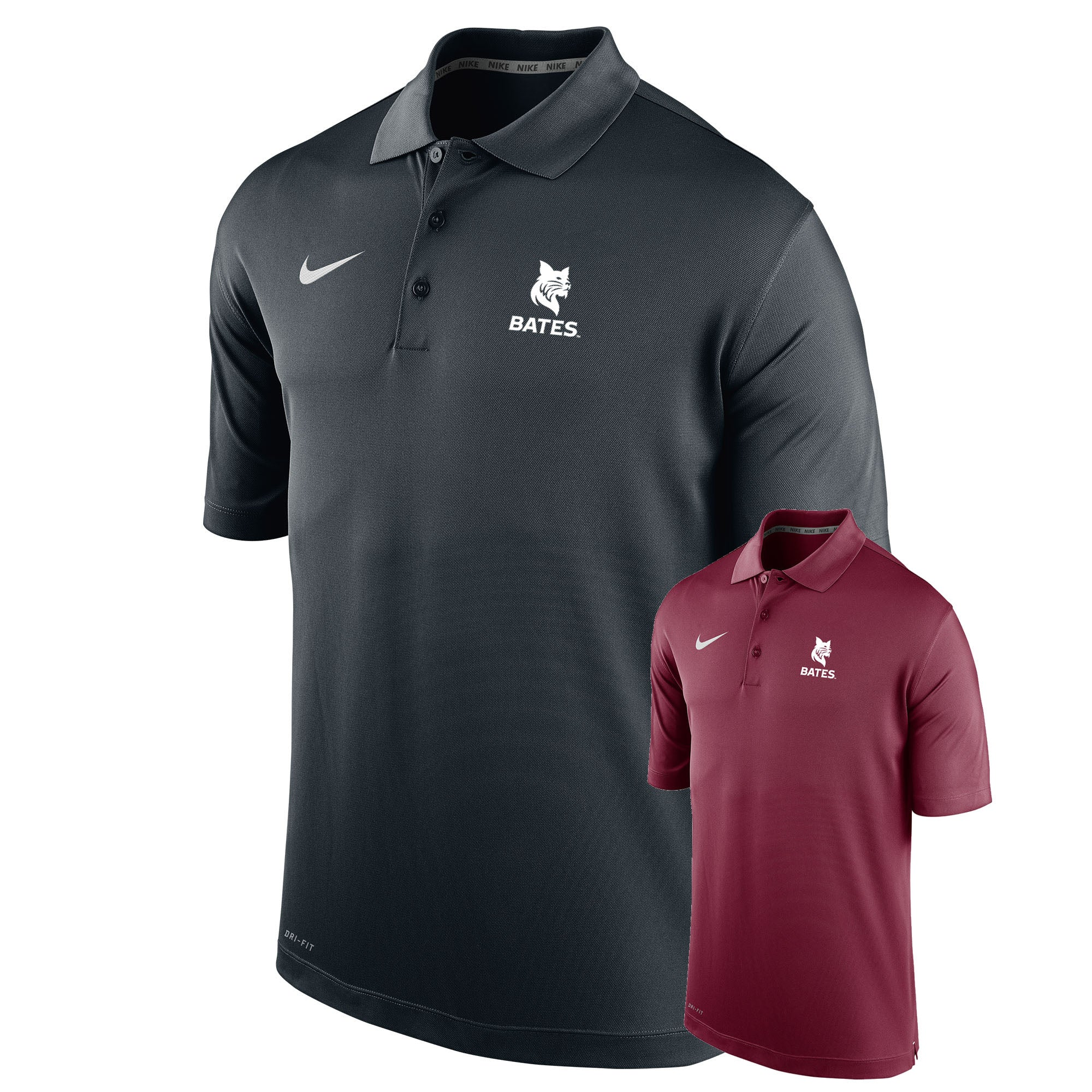 Nike Dri-Fit Polo with Bates Bobcat Imprint (2 Color Options) | Bates College Store