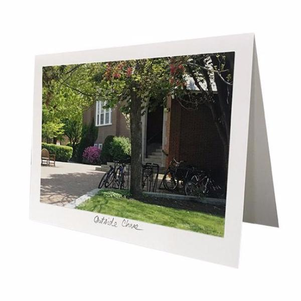 Outside Chase Photo Greeting Card