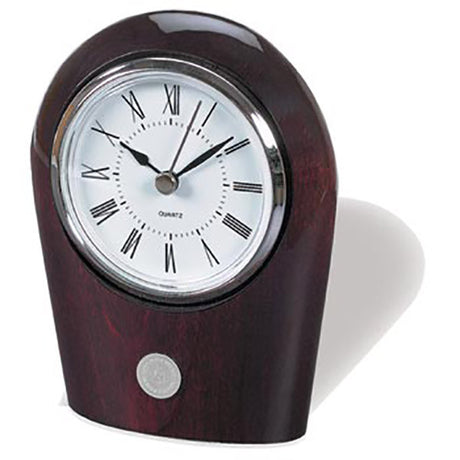 Palm Rosewood Finish Desk Clock