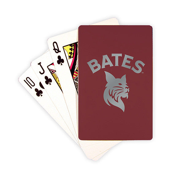 Bates Bobcats Playing Cards