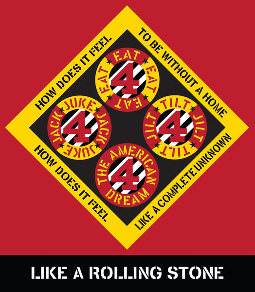 Robert Indiana Poster: Like a Rolling Stone
