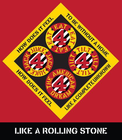 Robert Indiana Poster: Like a Rolling Stone - Books, Museum Publications