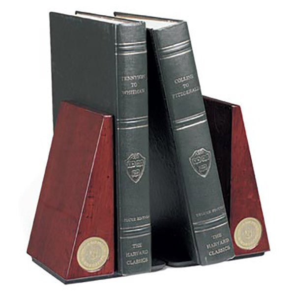 Pair of Rosewood Finish Bookends - Commencement, Gifts