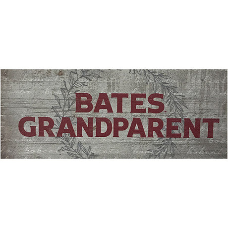 Bates College Small Wooden Sign for Grandparent
